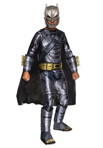 Click Here to buy Deluxe Kids Dawn of Justice Armored Batman Costume from HalloweenCostumes, USA Funds & Shipping