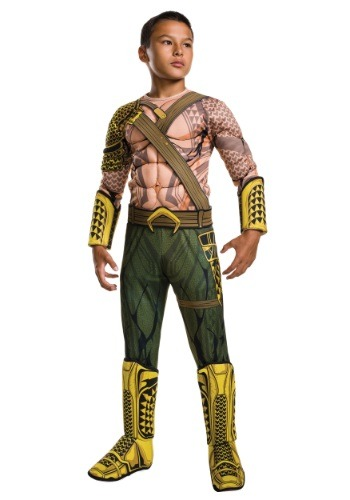 Click Here to buy Deluxe Kids Dawn of Justice Aquaman Costume from HalloweenCostumes, USA Funds & Shipping