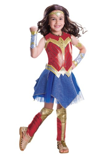 Click Here to buy Deluxe Kids Dawn of Justice Wonder Woman Costume from HalloweenCostumes, CDN Funds