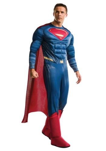 Click Here to buy Deluxe Adult Dawn of Justice Superman Costume from HalloweenCostumes, USA Funds & Shipping