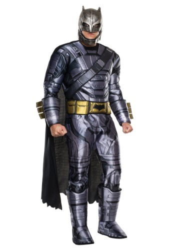 Click Here to buy Deluxe Adult Dawn of Justice Armored Batman Costume from HalloweenCostumes, USA Funds & Shipping