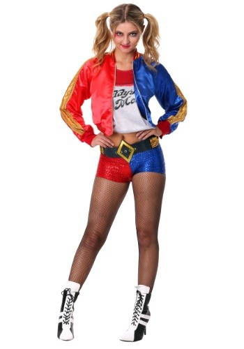 Click Here to buy Deluxe Suicide Squad Harley Quinn Womens Costume from HalloweenCostumes, CDN Funds