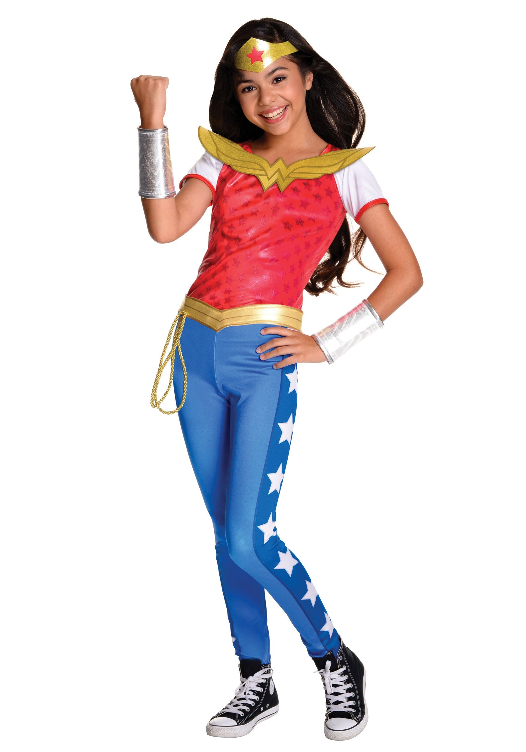 DC Superhero Girls Deluxe Wonder Woman Costume  sc 1 st  Halloween Costumes & DC Superhero Girls Costumes - Girls Superhero Costumes