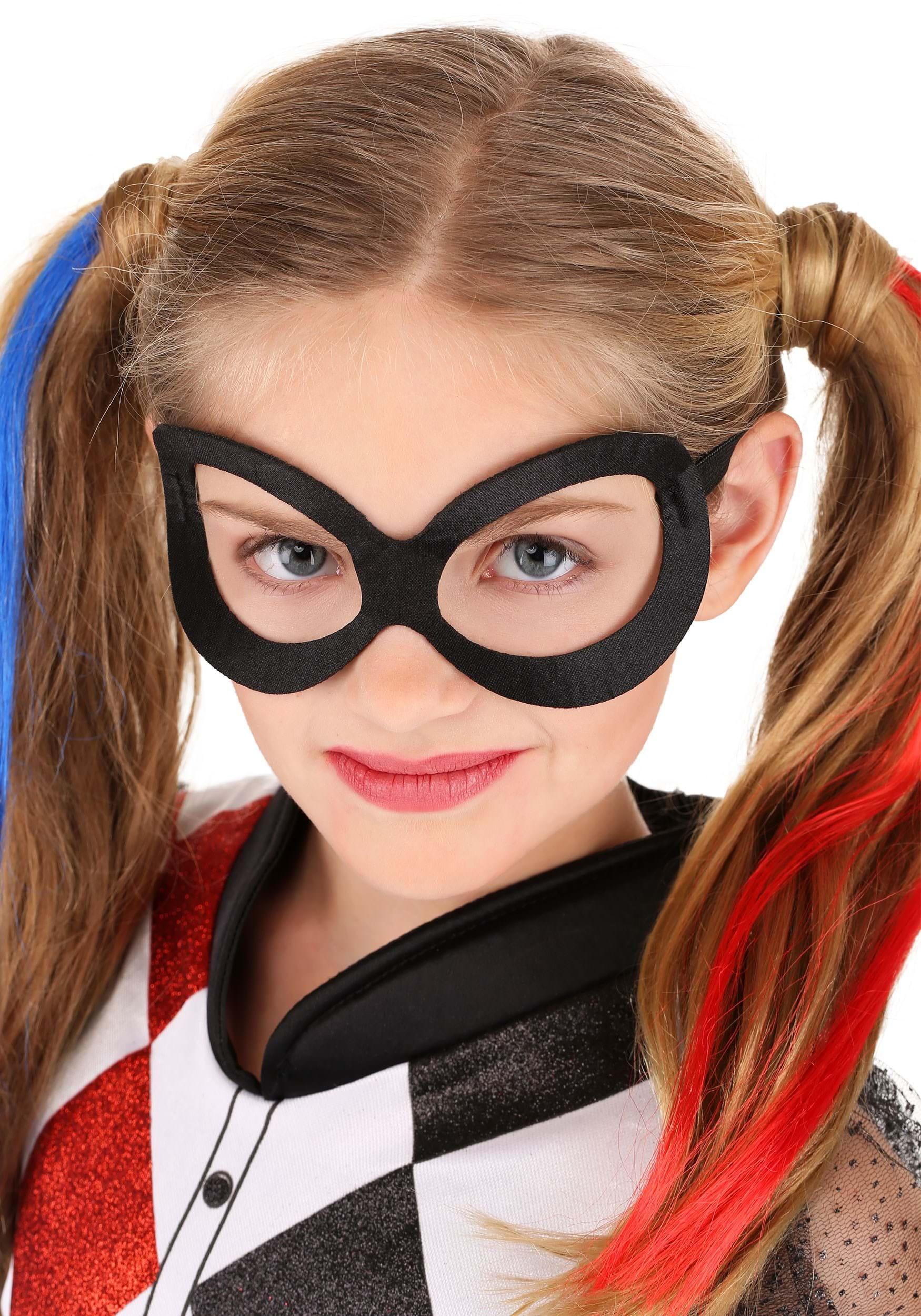 Dc Super Hero Harley Quinn Deluxe Girls Costume