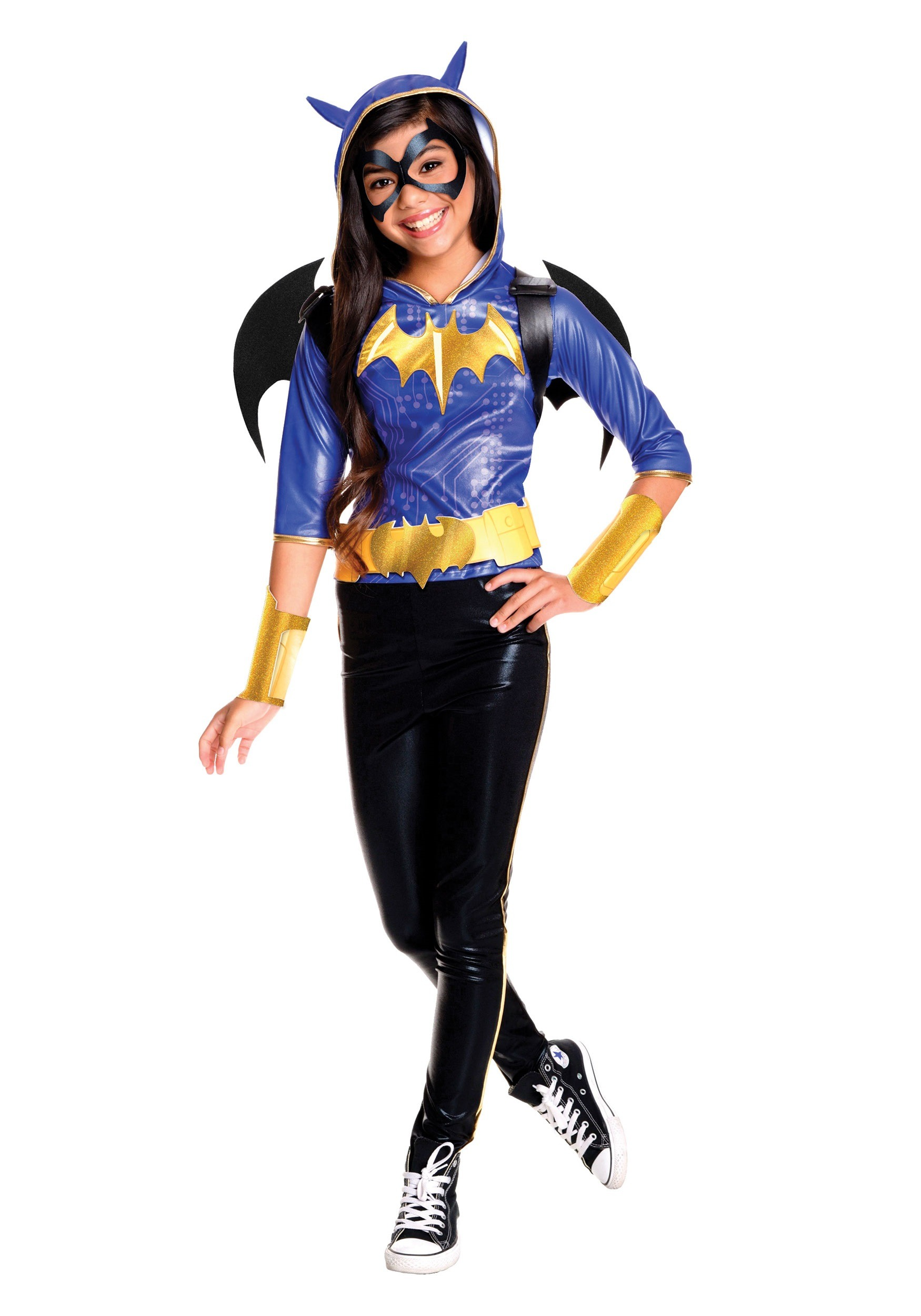 DC Superhero Girls Batgirl Deluxe Costume  sc 1 st  Halloween Costumes : batgirl costume adult  - Germanpascual.Com