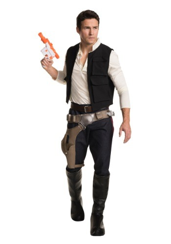 Click Here to buy Adult Han Solo Grand Heritage Costume from HalloweenCostumes, USA Funds & Shipping