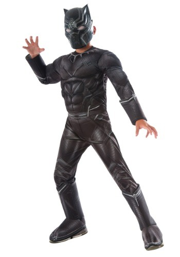 Click Here to buy Boys Civil War Black Panther Deluxe Costume from HalloweenCostumes, USA Funds & Shipping