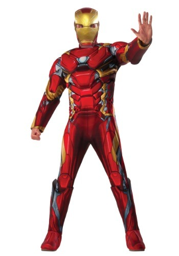 Mens Deluxe Civil War Iron Man Costume