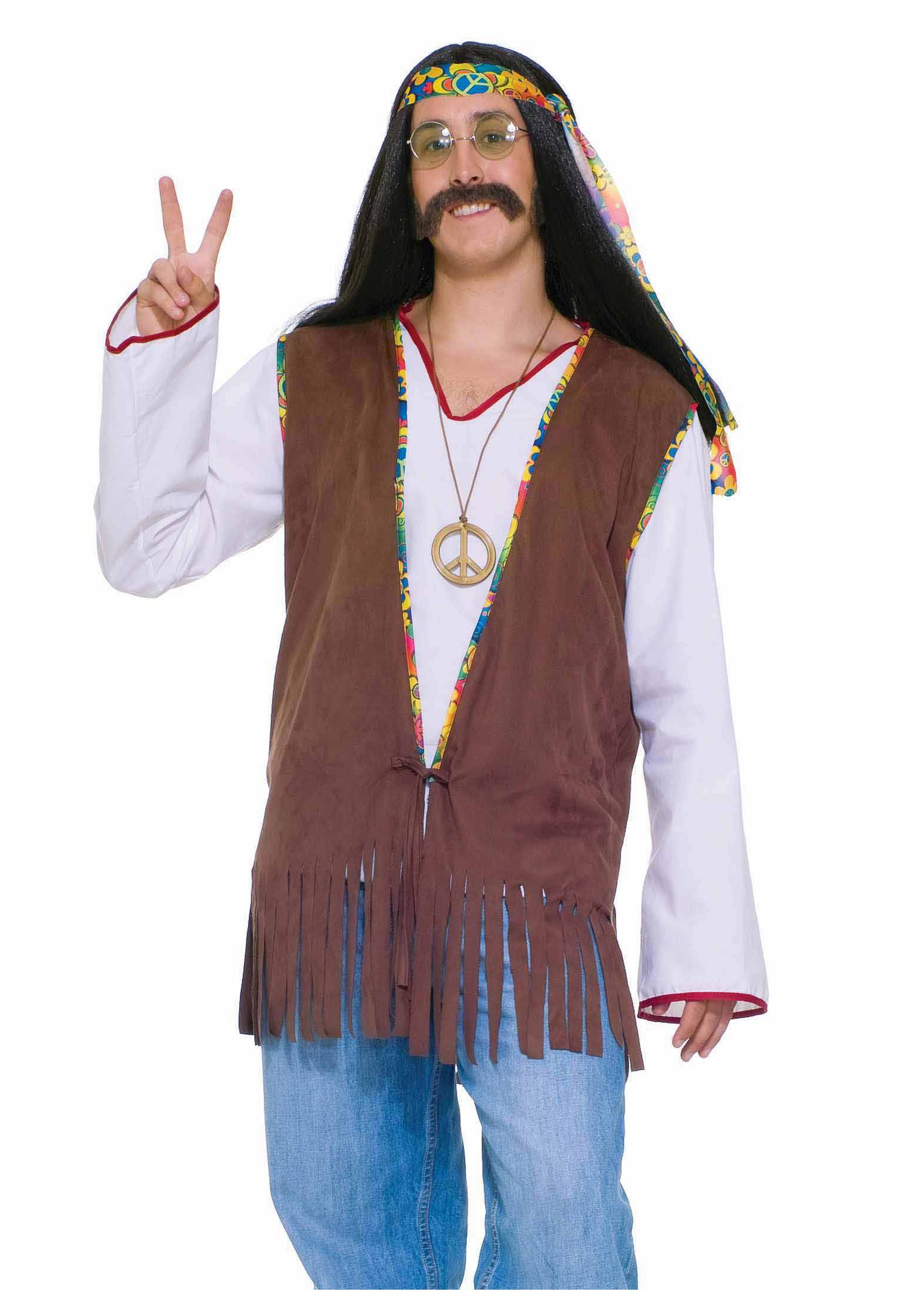 sc 1 st  Halloween Costumes & Menu0027s Hippie Vest