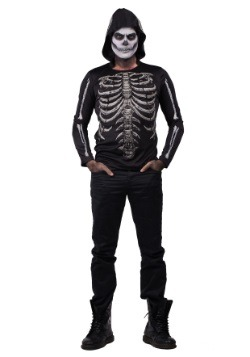 Men's Bare Bones Glow in the Dark Hooded Shirt