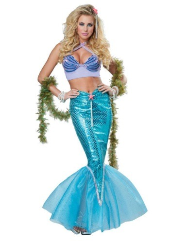Click Here to buy Womens Deluxe Mermaid Costume from HalloweenCostumes, USA Funds & Shipping