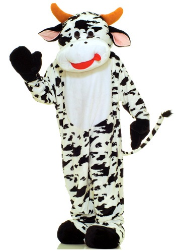 Click Here to buy Mascot Cow Costume from HalloweenCostumes, USA Funds & Shipping