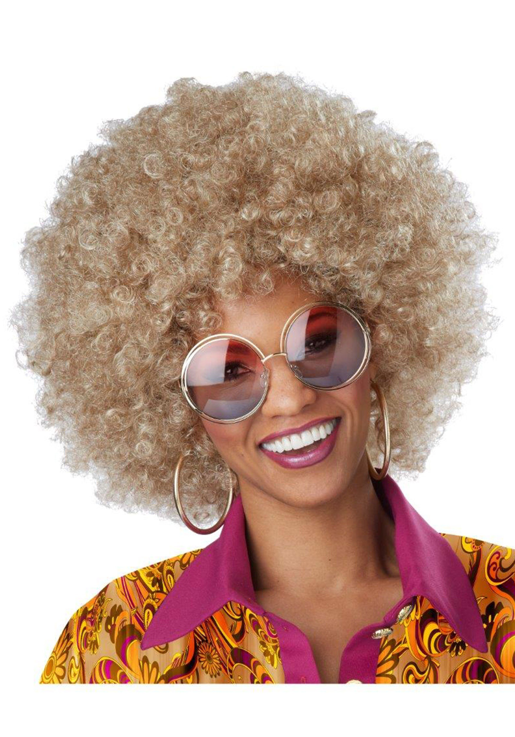 Blond Afro Wigs 75