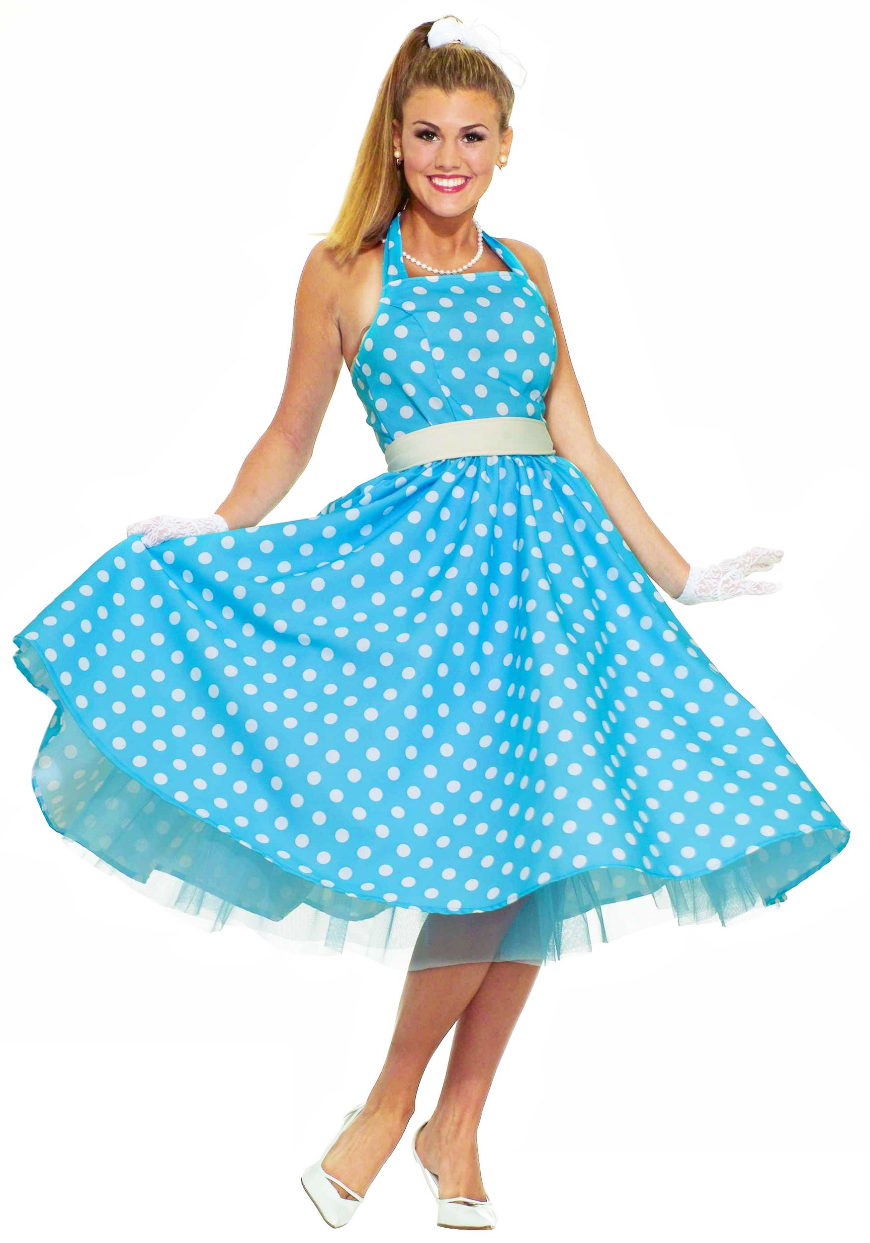 Ladies 50s Costume  sc 1 st  Halloween Costumes & 50s Costumes u0026 Sock Hop Outfits for Adults and Kids