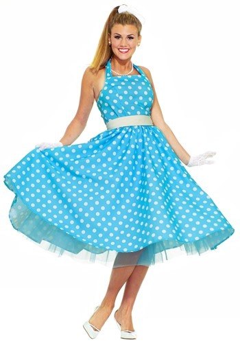 Click Here to buy Ladies 50s Costume from HalloweenCostumes, USA Funds & Shipping