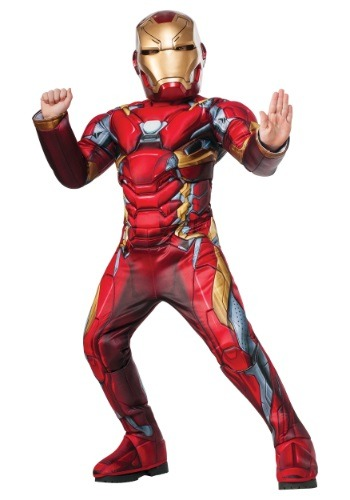 Click Here to buy Boys Elite Civil War Iron Man Costume from HalloweenCostumes, USA Funds & Shipping