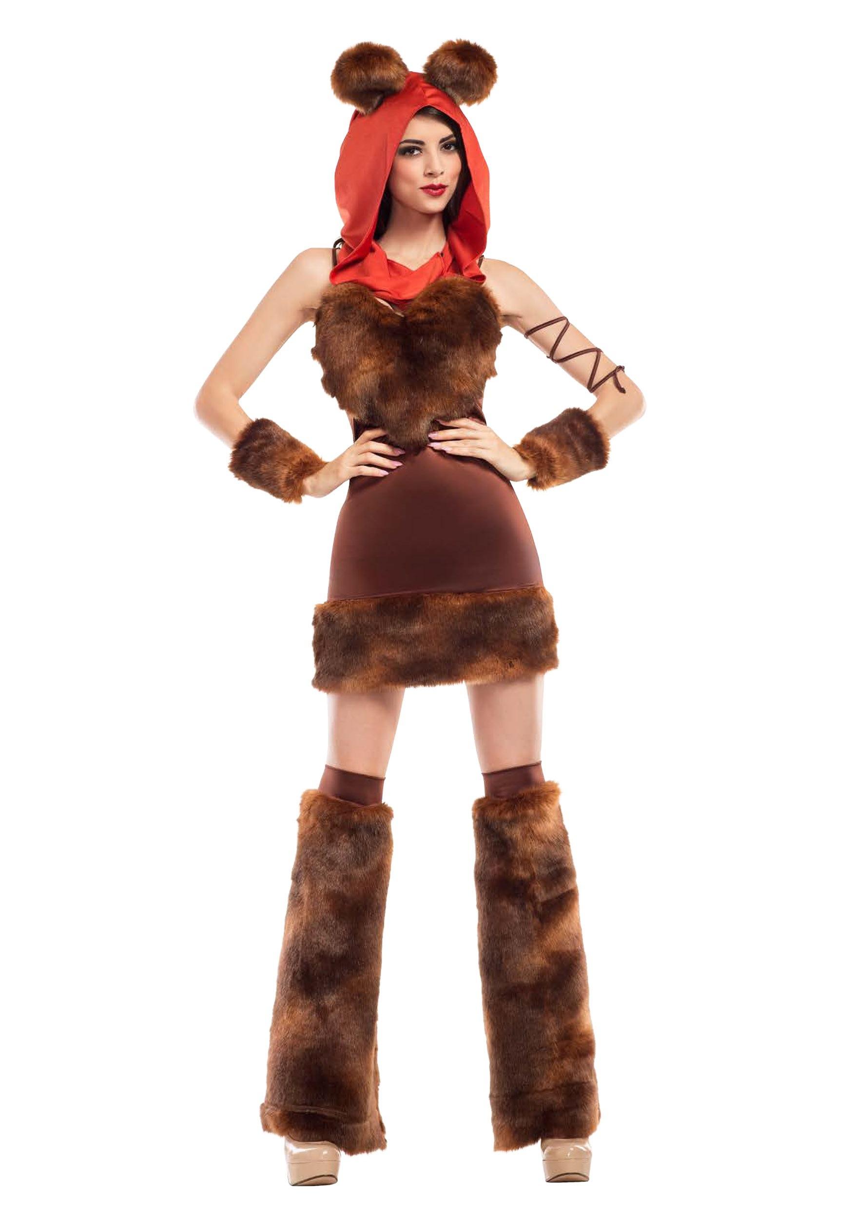 costume cute furry ewok space creature costumes womens adults halloweencostumes wars star dress
