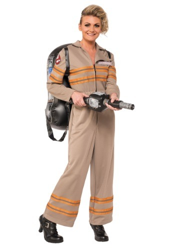 Click Here to buy Womens Deluxe Plus Size Ghostbusters Movie Costume from HalloweenCostumes, USA Funds & Shipping