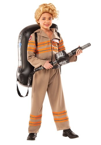 Click Here to buy Girls Deluxe Ghostbusters Movie Costume from HalloweenCostumes, CDN Funds