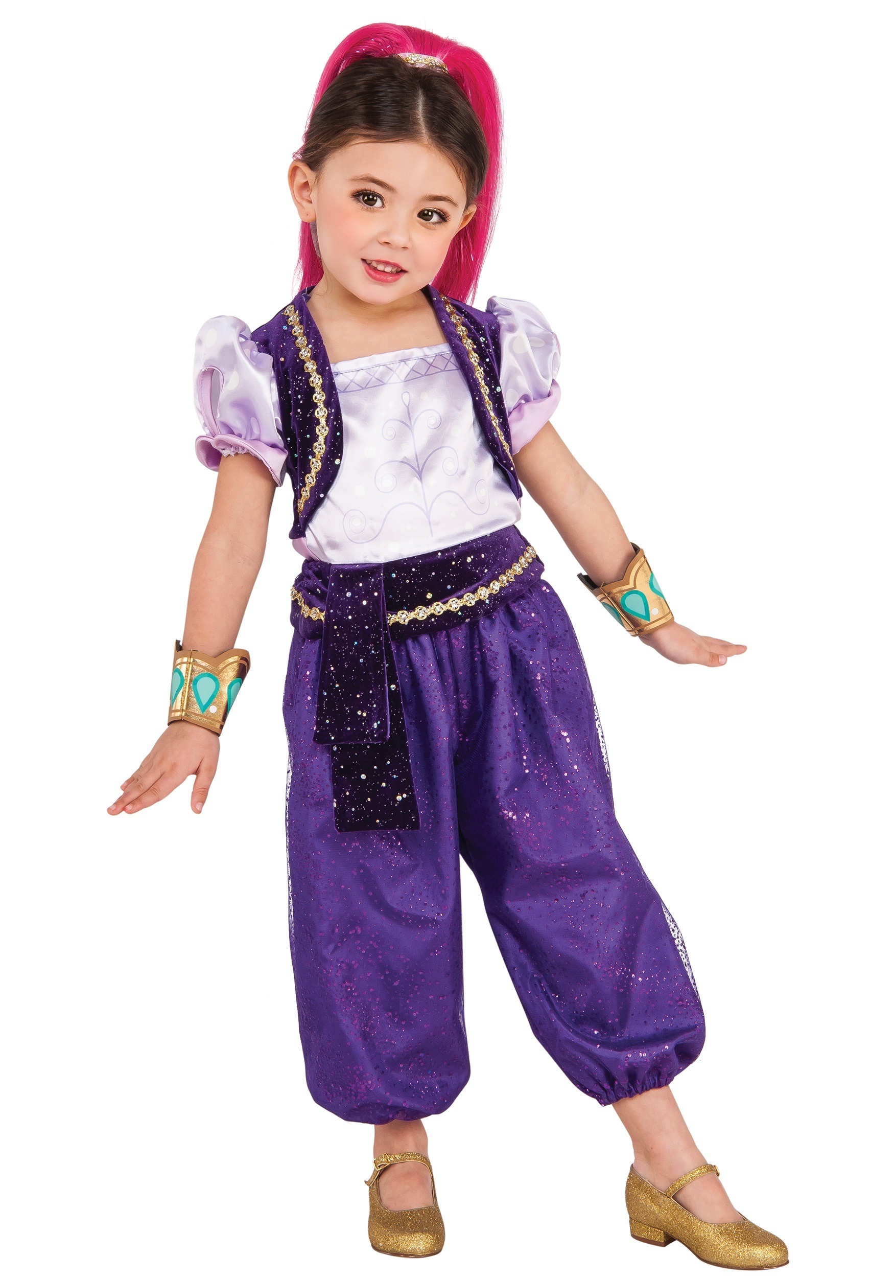 Girls Deluxe Shimmer Costume  sc 1 st  Halloween Costumes : jeannie costumes for kids  - Germanpascual.Com