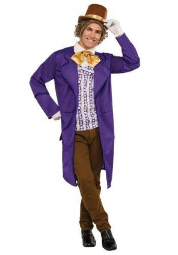 Mens Deluxe Willy Wonka Costume
