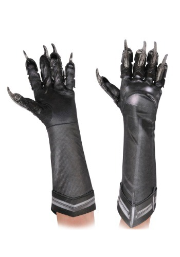Black Panther Deluxe Gloves for Kids