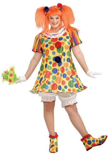 Plus Size Giggles the Clown Costume By: Forum Novelties, Inc for the 2015 Costume season.
