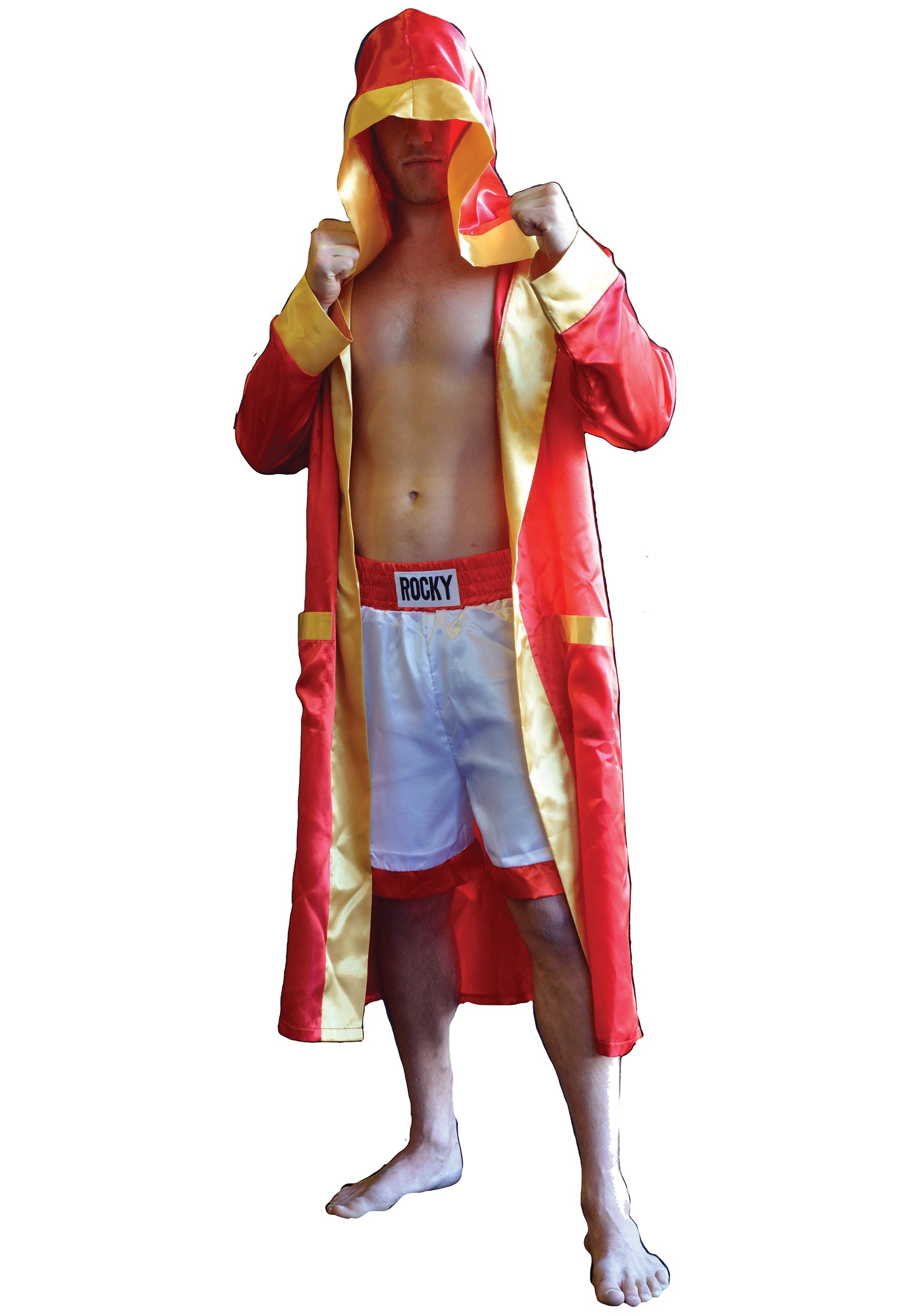 Boxer Fighter Robe Adult Rocky Bal...