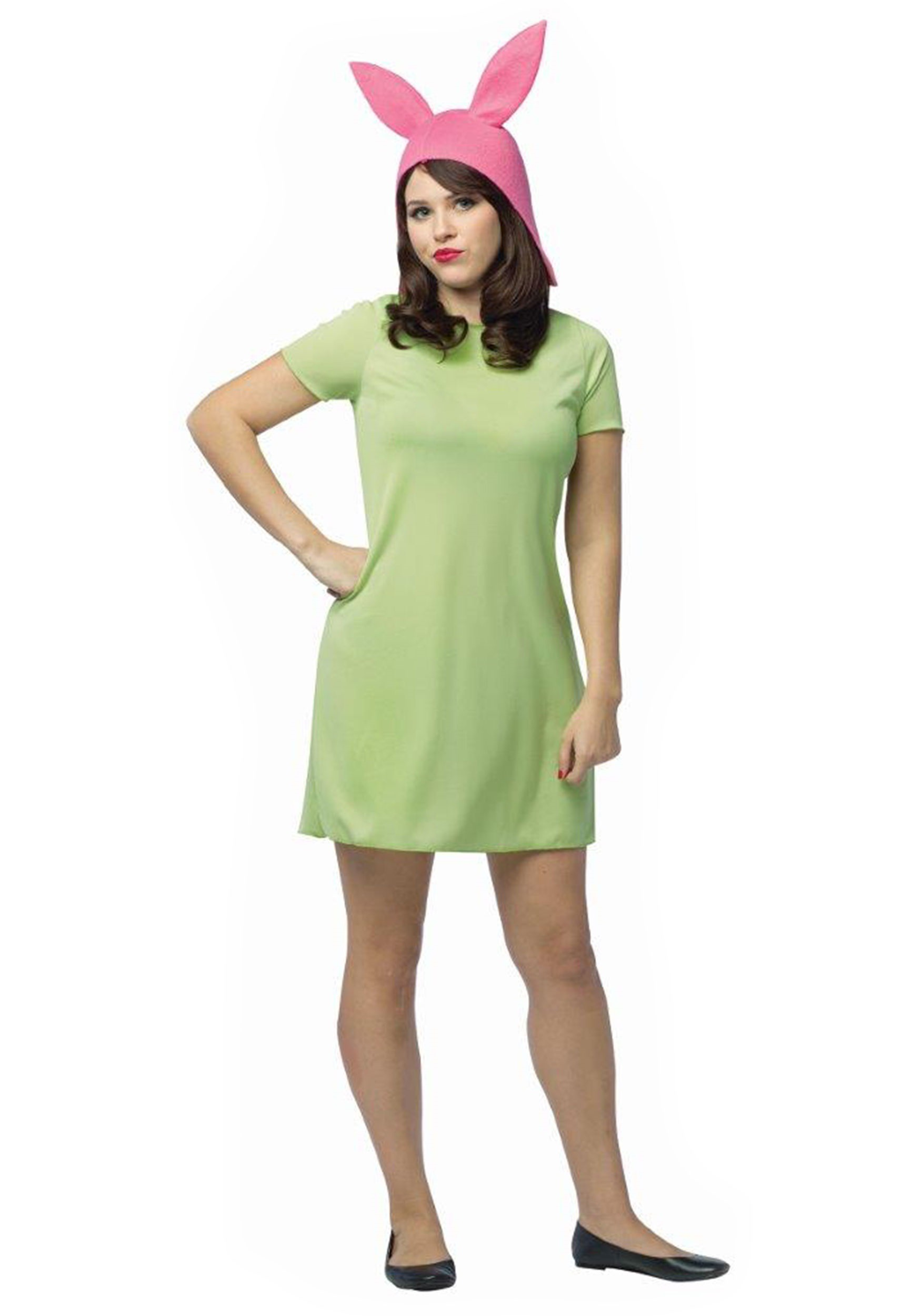adult bobs burgers louise costume - Green Halloween Dress