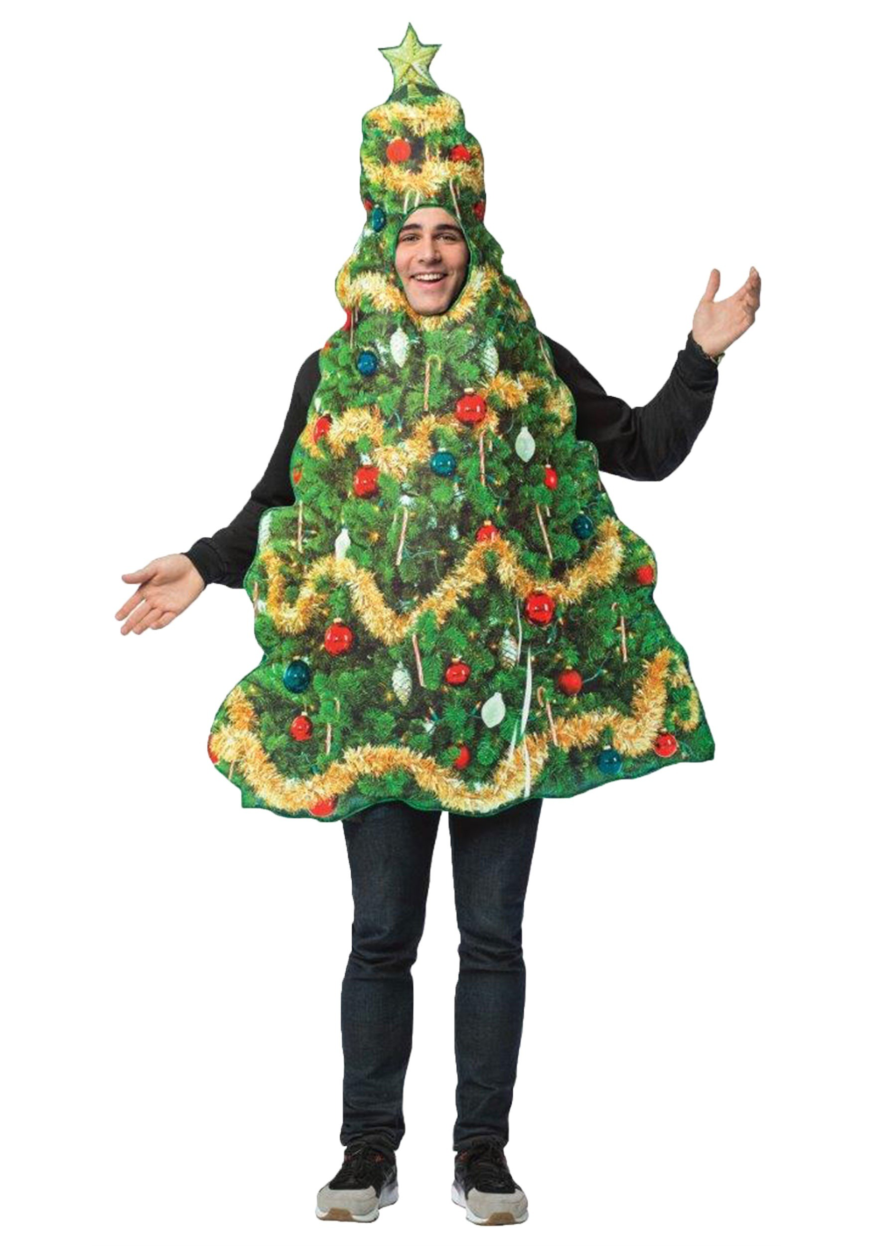 Extra Info Get Real Christmas Tree Adult Costume For