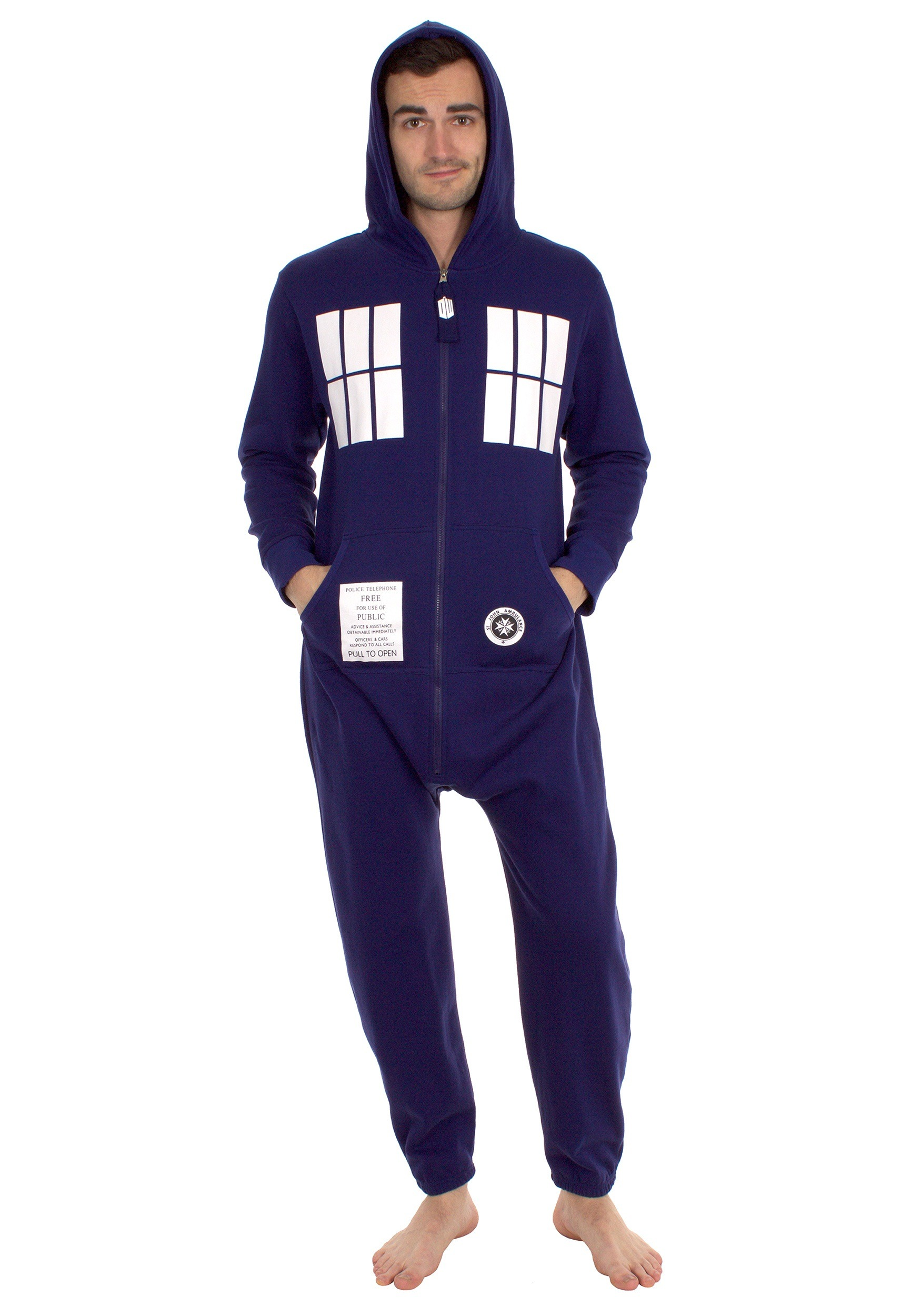 Awesome Men's Dr Who Lounge Pants. Mens cotton sleepwear with all-over Dalek and Tardis print. These comfortable lounge pants feature an elasticated waist and come in a presentation pack.