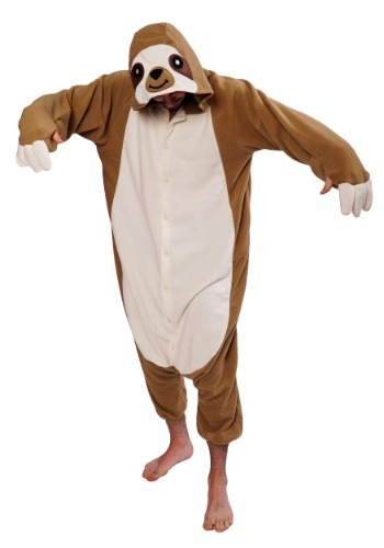 Click Here to buy Adult Sloth Kigurumi Pajama Costume from HalloweenCostumes, USA Funds & Shipping