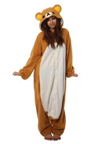 Click Here to buy Adult Rilakkuma Kigurumi Pajama Costume from HalloweenCostumes, USA Funds & Shipping