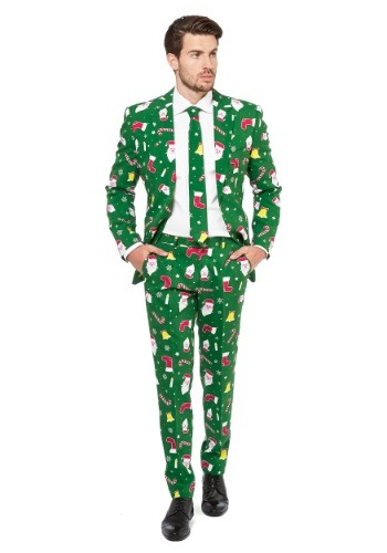 Click Here to buy Mens OppoSuits Santaboss Suit from HalloweenCostumes, USA Funds & Shipping
