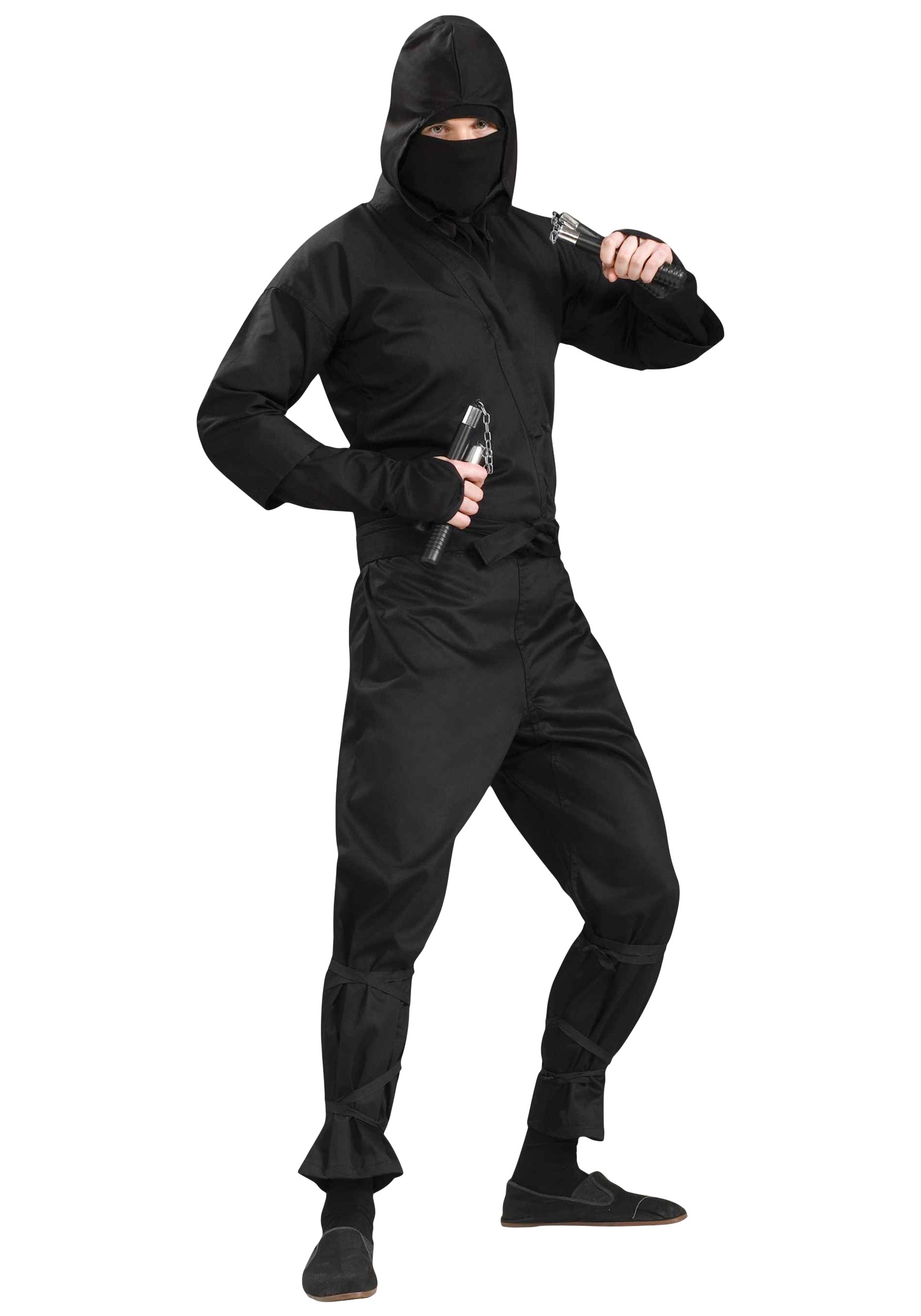 adult deluxe ninja costume. Black Bedroom Furniture Sets. Home Design Ideas