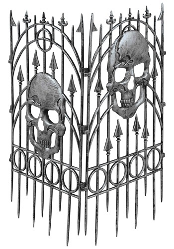 Silver Skull Fence By: Forum Novelties, Inc for the 2015 Costume season.