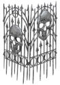 Silver Skull Fence - Fences Halloween Decorations