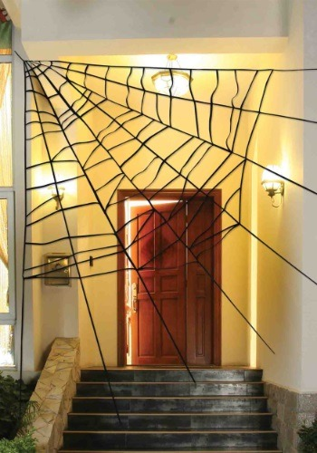 giant spiderweb decoration. Black Bedroom Furniture Sets. Home Design Ideas