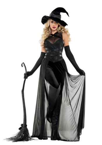 Click Here to buy Womens Raven Witch Costume from HalloweenCostumes, CDN Funds