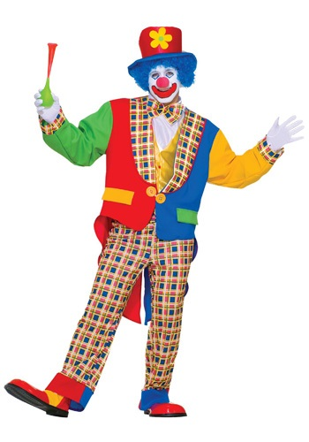 Adult Clown Costume - Mens Clown Halloween Costumes