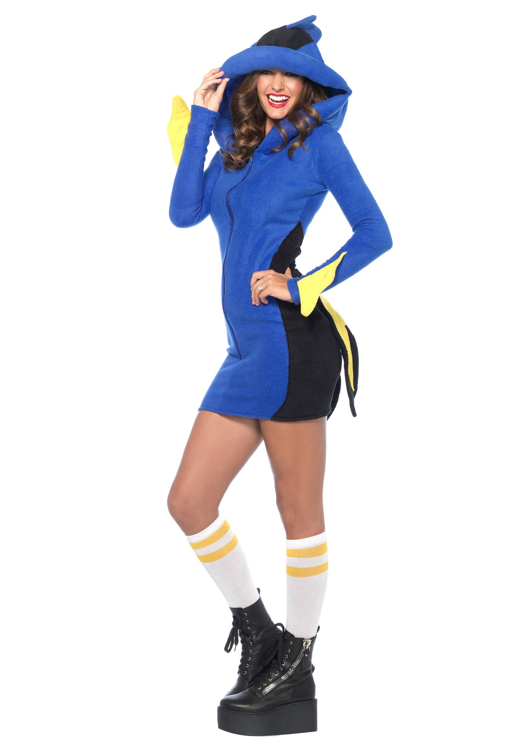 Adult cozy bluefish costume for Fish costume women