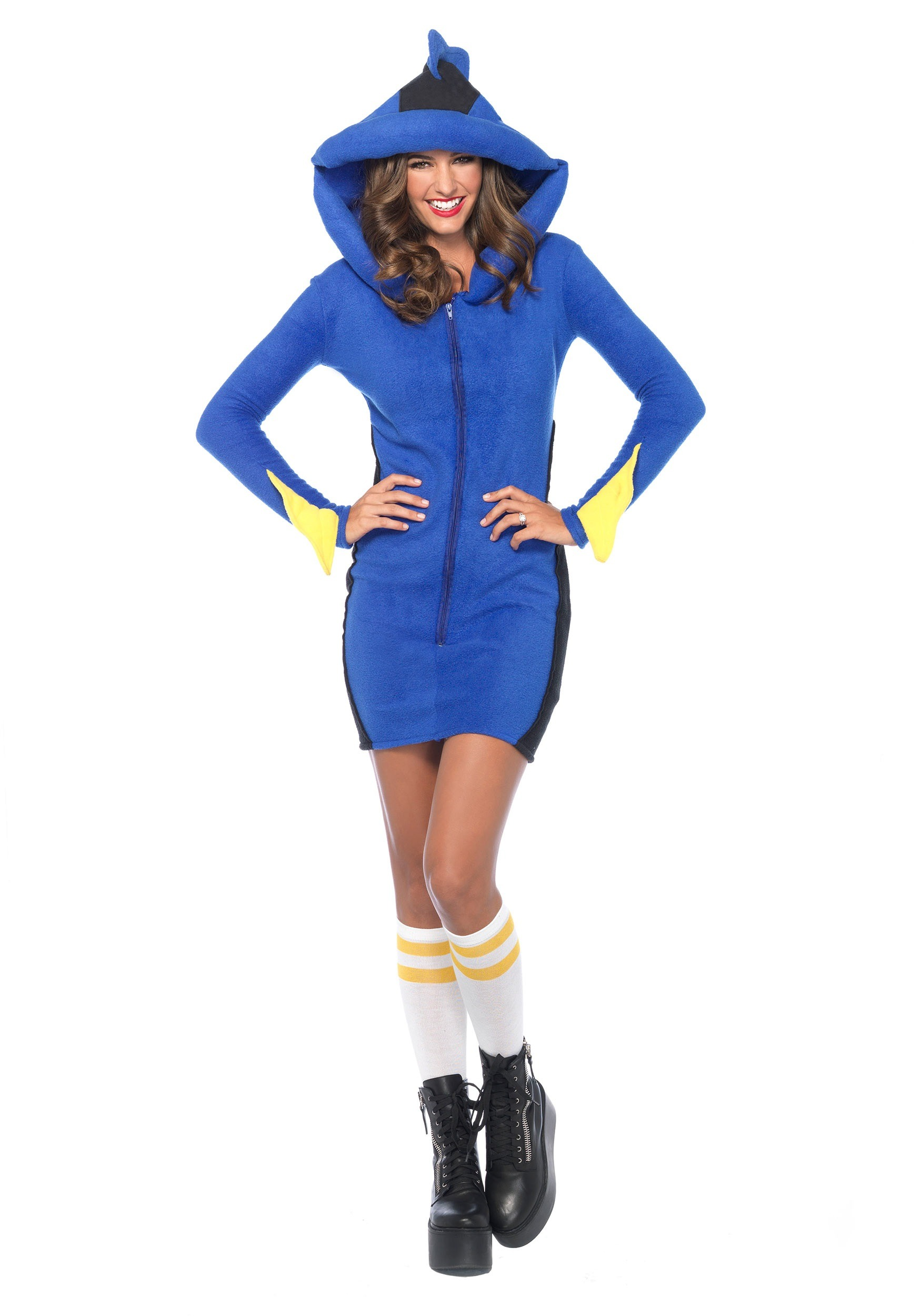 Adult cozy bluefish costume for Sexy fish costume