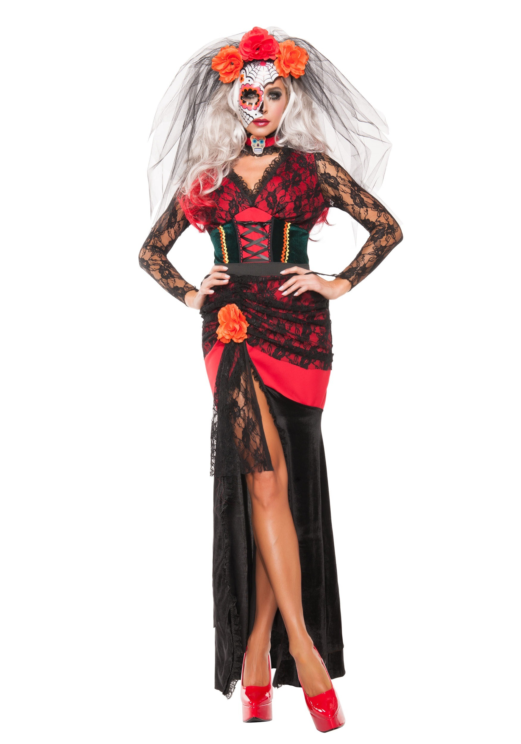 Womenu0027s Day of the Dead Darling Costume  sc 1 st  Halloween Costumes & Spanish Dresses Mariachi u0026 Matador Costumes - HalloweenCostumes.com