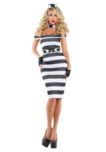 Click Here to buy Womens Pinup Prisoner Costume from HalloweenCostumes, USA Funds & Shipping
