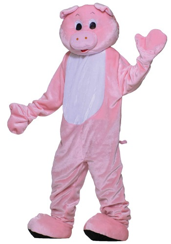 Click Here to buy Deluxe Pig Mascot Costume from HalloweenCostumes, USA Funds & Shipping