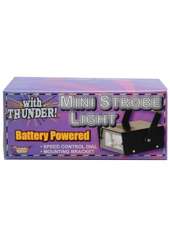 Mini LED Strobe Light with Thunder - Strobe Light, Halloween Accessories