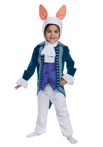 Click Here to buy Toddler White Rabbit Deluxe Costume from HalloweenCostumes, USA Funds & Shipping