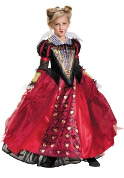Queen of hearts costumes plus size child adult queen of heart child deluxe red queen costume solutioingenieria Choice Image