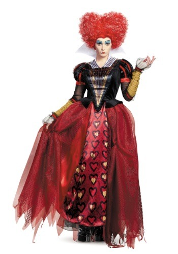 Click Here to buy Adult Deluxe Red Queen Costume from HalloweenCostumes, USA Funds & Shipping