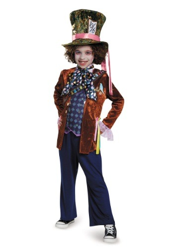 Click Here to buy Kids Mad Hatter Deluxe Costume from HalloweenCostumes, USA Funds & Shipping